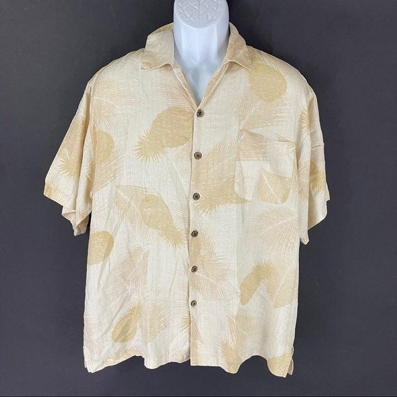 Tommy Bahama Men's Silk Hawaiian Shirt L